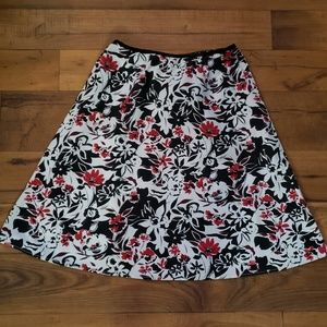 Dresses & Skirts - A-line black, red and white skirt